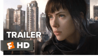 """They created me, but they cannot control me"". Scarlett Johansson faces the truth in intense new trailer for Ghost In The Shell.: C  TRAILER  HD ""They created me, but they cannot control me"". Scarlett Johansson faces the truth in intense new trailer for Ghost In The Shell."