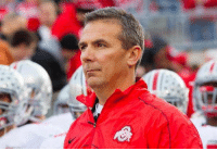Urban Meyer looks like the guy who has to have a bigger lawnmower than his neighbor: c Urban Meyer looks like the guy who has to have a bigger lawnmower than his neighbor