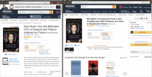 """lifepro-tips:    PSA: Amazon is a bunch of sneaky bastards! 44% markup when signed in vs. incognito mode.  : C www.amazon.com/Elon- Musk- Billionaire-SpaceX-  www.amazon.com/Elon-Musk-Billionaire-SpaceX-shaping/dp/075355562X?tag=duc08-21  amazon  Try Prime  Books  New Year, New You Sporaored by intu  EXPL  BEAUTIFUL THINGS ON AMAZON UPDATED DAILY  Hello. Sign in  Your Account-  Your  Lists  Shop by  Department  Try  amazon  7Iy Prime  Prime  Q  Your Amazon.com Today's Deals Gift Cards Sell Help  Kindle Store  elon musk how the billionaire ceo  Са  Books  Advanced Search  New Releases  Best Sellers  The New York Times@ Best Sellers  Children's Books  Textbooks  Textbook Rentals  Hello  Your  Shop by  Department  Shopping History  Today's Deals  Share  Y  Elon Musk: Inventing the Future: How  the Billionaire CEO of Spacex and Tesla  is Shaping Our Future Hardcover  884 customer reviews  ELON MUSK  Buy a Kindle  Kindle eBooks  Advanced Search  Daily Deals  Free Reading Apps  Kindle Unilimited  Buy Used  +$3.99 shipping  Used: Like New   Details  Sold by SuperBook Deals--  $26,1!  Back to search results for """"elon musk how the billionaire ceo of spacex and te.  Elon Musk: How the Billionaire  Look inside  CEO of SpaceX and Tesla is  shaping our Future Kindle Edition  ELON MUSK  See all 11 formats and editions  Add to Cart  Kindle  Hardcover  by Ashlee Vance - (Author)  $13.93  from $21.97  HOW THE BILLIONAIRE CEO  Turn on 1-Click ordering for this browser  884 customer  OF SPACEX AND TESLA  3 Used from $26.15  15 New from $21.97  Read with Our Free App  s SHAPING OUR FUTURE  reviews  ASHLEE VANCE  18 used & new from $21.97  See all 11 formats and editions  See All Buying Options  HOW THE BILLIONAIRE CEO  Flip to back  Listen  This Year's Top Products  OF SPACEX AND TESLA  Kindle  Hardcover  $18.90  Best of  2015  Shop the Editors' picks at Amazon including Movies, Music,  IS SHAPING OUR FUTURE  $20.09  Games, and more. Leam more  ASHLEE VANCE  Read with Our Free App  20 """