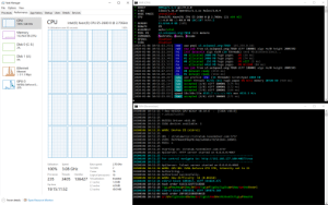 Getting a tid bit nipply in here, better kick on the heater!: C. XMR (CPU)  A Task Manager  XMRig/5.1.1 gcc/9.2.0  libuv/1.31.0 OpenSSL/1.1.1c hwloc/2.0.4  unavailable  Intel(R) Xeon(R) CPU E5-2680 e @ 2.70GHZ (2) x64 AES  L2:4.0 MB L3:40.0 MB 16C/16T NUMA:2  11.8/64.0 GB (18%)  1%  ABOUT  File Options View  * LIBS  Processes Performance App history Startup Users Details Services  * HUGE PAGES  * CPU  CPU  CPU  Intel(R) Xeon(R) CPU E5-26800 @ 2.70GHZ  * MEMORY  * DONATE  100% 3.08 GHz  % Utilization over 60 seconds  100%  auto:intel  * ASSEMBLY  aut  53. solopool.org:7010 coin monero  hashrate, pause, resume  disabled  Memory  16.2/64.0 GB (25%)  POL #1  COMMANDS  nast  OPENCL  * CUDA  disabled  Disk 0 (C: E:)  [2020-01-06 10:51:13.259] net  [2020-01-06 10:51:13.266]  [2020-01-06 10:51:13.269  [2020-01-06 10:51:13.308  [2020-01-06 10:51:13.346  [2020-01-06 10:51:13.353  [2020-01-06 10:51:13.355  [2020-01-06 10:51:15.656  [2020-01-06 10:51:17.872  [2020-01-06 10:51:19.286  [2020-01-06 10:51:19.287  [2020-01-06 10:51:19.726  [2020-01-06 10:51:25.514]  [2020-01-06 10:51:45.846]  [2020-01-06 10:52:15.836] cpu accepted (3/0) diff 100001 (164 ms)  r2020-01-06 10:52:19.814] speed 10s/60s/15m 4515.7 n/a n/a H/s max 4533.3 H/s  [2020-01-06 10:52:23.882] cpu accepted (4/0) diff 100001 (171 ms)  use pool s3.solopool.org:7010 145.239.0.161  new job from s3.solopool.org:7010 diff 100001 algo rx/e height 2005392  init datasets algo rx/e (16 threads) seed 9bcb1343e3c13ec2...  #0 allocated 2080 MB huge pages  2%  net  rx  0% (36 ms)  0% (74 ms)  0% +JIT (5 ms)  0% 0/2208 (84 ms)  Disk 1 (U:)  rx  #1 allocated 2080 MB huge pages  #0 allocated 256 MB huge pages  allocated 4416 MB huge pages  new job from s3.solopool.org:7010 diff 100001 algo rx/0 height 2005393  rx  0%  מaםרפר  rx  Ethernet  net  Job TrO  #0 dataset ready (4515 ms)  #1 dataset ready (1412  cpu use  Ethernet  S: 0 R: O Kbps  (15 threads) scratchpad 2048 KB  cpu READY threads 15/15 (15) huge pages 0% e/15 memory 30720 