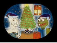 Merry Christmas from Pepe and Wojak: c.y Merry Christmas from Pepe and Wojak