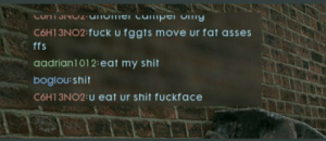 Shit, Soldiers, and Fuck: C6H13NO2 fuck u fggts move ur fat asses  ffs  aadrian1012:eat my shit  boglou:shit  С6H 13N02:u eat Ur shit fuckface WW1 soldiers communicating in trenches (1916, colorized)