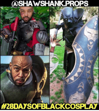 Memes, 🤖, and Armor: CA SHAWSHANK PROPS  A28DAYSOFBLACKCOSPLAY My 13th 28daysofblackcosplay feature goes to the epic @shawshank.props! This guy has been my personal cospaygoals from Day 1. His BlackPanther and Deadshot armors are legendary and his new sawgerrera is spot-on! Be sure to check out his page and give him a follow! 👉🏾@shawshank.props -- Also be sure to follow @cosplayofcolor for daily cosplay photography that emphasizes diversity and representation.