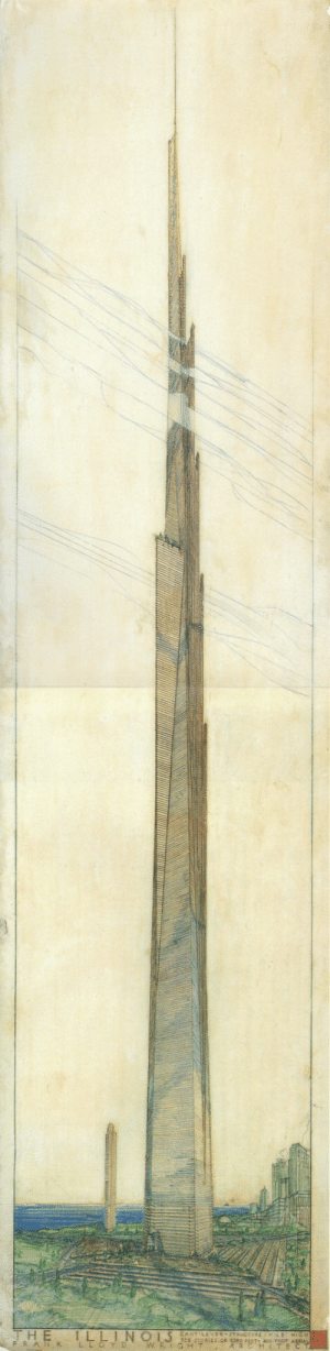 Tumblr, Blog, and Http: CA  STRUCTURE  RCHITE  FRAN,K  L scifiseries:  The Illinois, Frank Lloyd Wright's mile-high skyscraper, 1956.