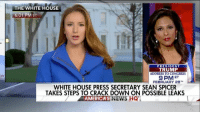 Memes, Cracked, and 🤖: Ca  THE WHITE HOUSE  6:01 PM ET  PRESIDENT  TRUMP  ADDRESS TO CONGRESS  9 PM ET  FEBRUARY 28  WHITE HOUSE PRESS SECRETARY SEAN SPICER  TAKES STEPS TO CRACK DOWN ON POSSIBLE LEAKS  NEWS LHQ  AMERICAS New information on the steps White House Press Secretary SeanSpicer is taking to stop leaks to the press.