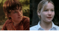 """Books, Cute, and Fucking: caffinatedbybossblack:my-graceless-heart:impuretale: lumos-of-my-life:  thelegendofelectraheart:  actualteenadultteen:  The Hunger Games, Actual Teen style! On the left, 15-year-old Josh Hutcherson. On the right, 16-year-old Jennifer Lawrence. Think how much creepier it would be to see them killing other kids when they look so squishy-cheeked and little.  """"Think how much creepier it would be to see them killing other kids when they look so squishy-cheeked and little."""" THAT'S THE POINT SUZANNE COLLINS WAS TRYING TO MAKE  Think about these cute squishy kids being forced into a romance in order to survive  And the threat of these cute squishy kids being forced into prostitution after the games are over.  REBLOGGING THIS AGAIN WITH A REMINDER THAT FINNICK WAS 14 WHEN HE WAS REAPED/WON THE GAMES AND WAS FORCED INTO PROSTITUTION SOON AFTERWARD  REMINDER THAT THESE BOOKS ARE PRETTY FUCKING DEEP FOR POPULAR YA LIT."""