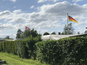 Confederate Flag, Fuck, and Germany: CAL In a trailer park in Germany. Who the fuck has a confederate flag with a truck on it here?