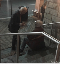 Homeless, Joe Biden, and Memes: Caleb Baca A viral photo captured former Vice President Joe Biden chatting with a homeless man outside of the Georgetown AMC movie theater on March 8.