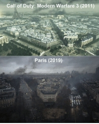 Nostalgia, Call of Duty, and Paris: Call of Duty: Modern Warfare 3 (2011)  Paris (2019) Nostalgia https://t.co/qRSM0mgv4r