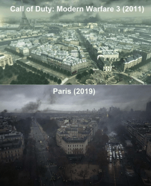 Nostalgia, Call of Duty, and Paris: Call of Duty: Modern Warfare 3 (2011)  Paris (2019) Nostalgia