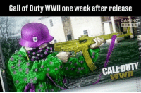 Funny, Memes, and Ps4: Call of Duty WWII one week after release  GAMING  B I L E  CALLDUTY COD WWII can't disappoint. They revamped a lot of stuff and added new features. >.< - FOLLOW @the_lone_survivor for more - - PS4 xboxone tlou Thelastofus fallout fallout4 competition competitive falloutmemes battlefield1 battlefield starwars battlefront game csgo counterstrike gaming videogames funny memes videogaming gamingmemes gamingpictures dankmemes recycling csgomemes cod