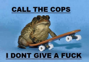 I Dont Give a Fuck, Fuck, and Cops: CALL THE COPS  I DONT GIVE A FUCK
