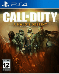 The game you've all been waiting for:: CALLDUTY  A HALO S DESTINY  STAR  W A R S EDIT  ON  MATURE 12+  12  OLDS  CONTENT RATED BY  ESRB The game you've all been waiting for: