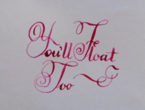 Life, Tumblr, and Blog: calligraphy: We are all floating down there!Calligraphy by @therabine, Patreon Live the CalligraphyLife.org