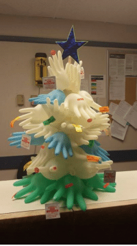 Calling for photos of creative Christmas trees made in the ER, EMS station, Fire Station, Police Dept, ICU, nursing unit, Radiology, Respiratory, etc.!  This is one from last year.  So fun!! (PLEASE, PLEASE post on the page and not via private message.): Calling for photos of creative Christmas trees made in the ER, EMS station, Fire Station, Police Dept, ICU, nursing unit, Radiology, Respiratory, etc.!  This is one from last year.  So fun!! (PLEASE, PLEASE post on the page and not via private message.)