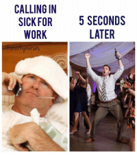 Calling in sick gives me so much guilt but only for like 5 seconds before and during the call, after I feel free as a 🕊🕊🕊 freeasabird sickday snarkynurses: CALLING IN  SICK FOR  5 SECONDS  WORK  LATER  shark Unurses Calling in sick gives me so much guilt but only for like 5 seconds before and during the call, after I feel free as a 🕊🕊🕊 freeasabird sickday snarkynurses
