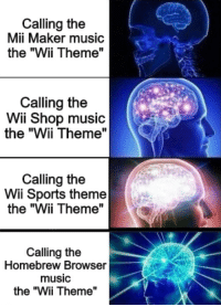 Calling the Mii Maker Music the Wii Theme Calling the Wii