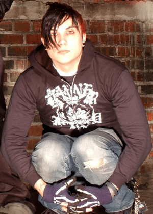 Taken, Tumblr, and Blog: callmeblake:Frank Iero  Taken December 28th, 2004 But first appeared in most publications in 2005 Photo by: Eddie MallukCut of a group photo from @vacationadventuresociety  You know he had to do it to em