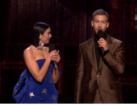 Memes, Calvin Harris, and British: Calvin Harris and Dua Lipa win the award for British Single at the BRITs