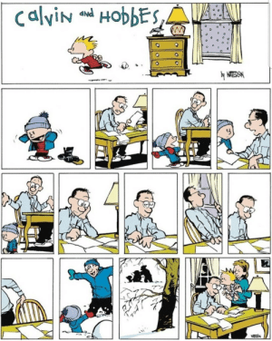 Calvin and Hobbes is wholesome as frick: calviN HobbES,  by WATERSM  HOT2 Calvin and Hobbes is wholesome as frick