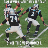 Fact or Fiction? 👀 Von Miller out here giving quarterbacks nightmares.: CAM NEWTON HASN'T BEEN THE SAME  KILLER  7 4  24  SINCE THIS VERY MOMENT  INSTAGRAMBRONCOSTODA Fact or Fiction? 👀 Von Miller out here giving quarterbacks nightmares.