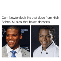 Lmao😂️: Cam Newton look like that dude from High  School Musical that bakes desserts Lmao😂️