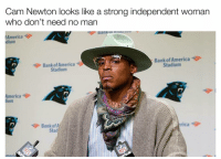 Why Cam dressing like he gone beat your ass for not going to church..: Cam Newton looks like a strong independent woman  who don't need no man  America  dium  Bank of America  Bank America  of Stadium  Stadium  America  rica  Bank of A  Stad Why Cam dressing like he gone beat your ass for not going to church..