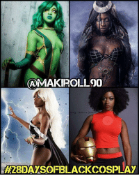 My sixth 28daysofblackcosplay feature goes to the uber-skilled bombshell: @makiroll90! 🙌🏾 This woman disappears into each of her characters - and she's cosplayed an astonishing number of them! From Enchantress, to RiriWilliams, to Gamora, to Harleyquinn, to Storm - she's done it all! Be sure to check out her page and give her a follow. -- Also be sure to follow @cosplayofcolor for daily cosplay photography that emphasizes diversity and representation. 👌🏾 And @makiroll90 will be attending @blerdcon this year! 🚨: CAMAKRO-LOO  terra  tudio  5  H28IDAYSOFBLACKCOSPLAY My sixth 28daysofblackcosplay feature goes to the uber-skilled bombshell: @makiroll90! 🙌🏾 This woman disappears into each of her characters - and she's cosplayed an astonishing number of them! From Enchantress, to RiriWilliams, to Gamora, to Harleyquinn, to Storm - she's done it all! Be sure to check out her page and give her a follow. -- Also be sure to follow @cosplayofcolor for daily cosplay photography that emphasizes diversity and representation. 👌🏾 And @makiroll90 will be attending @blerdcon this year! 🚨