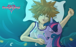 Came across this garbage nightmare while looking for sora taking a nap or death screen fan art: Came across this garbage nightmare while looking for sora taking a nap or death screen fan art