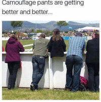 """Memes, Http, and Oh Well: Camouflage pants are getting  better and better. <p>Oh well..Ok. via /r/memes <a href=""""http://ift.tt/2F0TLVs"""">http://ift.tt/2F0TLVs</a></p>"""