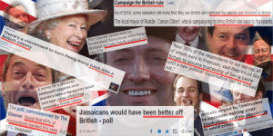 """Oh boy here I go colonising again: Campaign for British rule [edit]  As of 2018, some islanders still insist that they are British and demand the islands are returned to Britain.  The local mayor of Roatán, Carson Dilbert, who is campaigning to bring British rule back to the islands,  The Queen responds to  frustrated American who begs  Britain to take back control of  the US  There's a movement to turn Hong Kong back into a  British colony  GlobalPost  """"Now 70% of the respondents to our survey, all  of whom were in Freetown, said they would like  Britain to assume trusteeship of Sierra Leone  until a new political dispensation can be worked  out.""""  newspaper suggests most  islanders believe the country would  have been better off if it had  A survey for a Jamaican  Britain urged by lawmaker  to consider taking over  Zimbabwe and recolonising  it amid crisis  The poll,commissioned by The  Gleaner,found that 60% of  respondents backed this view. But  17% disagreed  remained a British colony  Jamaicans would have been better off  British-poll  THE UK Governmentnas been asked If It has consldered """"recolonising"""" Zimbabwe, amid the  in  6894 sHIARES  29 June 2011  Share  Tweet Oh boy here I go colonising again"""