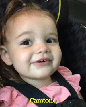 Girl, Ice Cream, and Cream: Camtono This little girl can't say 'ice cream'... Wait for it! 😂😍🍦
