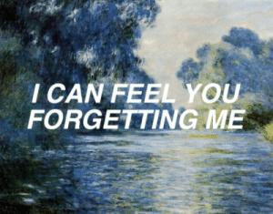 Can, You, and Feel: CAN FEEL YOU  FORGETTING ME