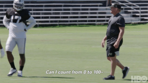 Jon Gruden is a man of MANY talents.  Give it a shot, see if you can keep up! 😂  📺: #HardKnocks on @HBO Tuesday at 10 p.m. ET https://t.co/haIETOD4qQ: Can I count from 0 to 100-  HBO Jon Gruden is a man of MANY talents.  Give it a shot, see if you can keep up! 😂  📺: #HardKnocks on @HBO Tuesday at 10 p.m. ET https://t.co/haIETOD4qQ