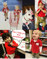 Memes, Help, and Otis: Can I help you  find  someth  ing? Shout-out to these #TargetLittles who rocked the red and khaki last night! 📷: Adriana H. Olvera, Jennifer Jones Otis, Carlin Smith, Lisa Taniguchi‎