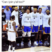 """JR was putting up that performance in game 5 so he can join the warriors😂😂 - Follow @2nbamemes: """"Can I join yall too?""""  GOLDEN STATE  ?LDEN STATE  WARRIORS  @nba memes 24  SMI  EN STA  RRIOR  GOLDEN  WAR JR was putting up that performance in game 5 so he can join the warriors😂😂 - Follow @2nbamemes"""