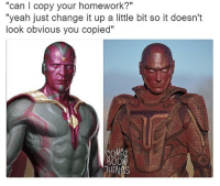 "Red Tornado on Supergirl...could have looked better😂😂 Pic via: @comicbookthings vision paulbettany avengers ageofultron captainamericacivilwar supergirl redtornado melissabenoist: ""can l copy your homework?""  ""yeah just change it up a little bit so it doesn't  look obvious you copied""  COMIC  800K  THINGS Red Tornado on Supergirl...could have looked better😂😂 Pic via: @comicbookthings vision paulbettany avengers ageofultron captainamericacivilwar supergirl redtornado melissabenoist"
