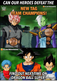 Rustling Intensifies: CAN OUR HEROES DEFEATTHE  FB.com/DB2exclusives  NEW TAG  TEAM CHAMPIONS!  FB.co  om/DB  FB.com/DBZexclusives  USIVes  FIND OUT NEXT TIME ON  DRAGON BALL SUPER!