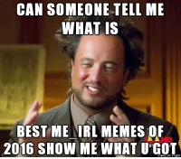 CAN SOMEONE TELL ME  WHAT IS  BEST ME IRL MEMES OF  2016 SHOW ME WHAT U GOT  gur me irl