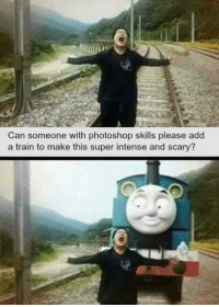 Photoshop, Train, and Humans of Tumblr: Can someone with photoshop skills please add  a train to make this super intense and scary?