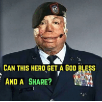 God, Hero, and Can: CAN THIS HERO GET A GOD BLESS  AND A SHARE?