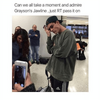 Friends, Girls, and Twins: Can we all take a moment and admire  Grayson's Jawline, just RT pass it on that girl is face timing her friend 😂 and I might meet the Dolan twins this summer and Cameron Dallas oh for free btw 👀