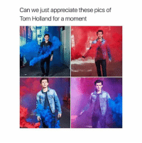 Love, Appreciate, and Girl Memes: Can we just appreciate these pics of  Tom Holland for a moment love him