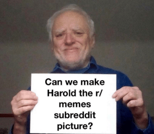 Please? He deserves it! by Mi5ki MORE MEMES: Can we make  Harold the r/  memes  subreddit  picture? Please? He deserves it! by Mi5ki MORE MEMES