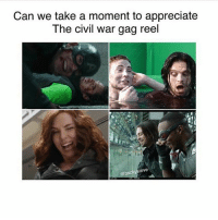 I really really really love the big bang theory ° 《cred to @bxckysteve 》: Can we take a moment to appreciate  The civil war gag reel  Steve I really really really love the big bang theory ° 《cred to @bxckysteve 》