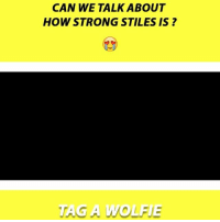 Memes, 🤖, and Can: CAN WE TALKABOUT  HOWSTRONG STILES IS  G A WOLFE Tag a wolfie 😍