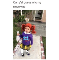 Memes, Guess, and Guess Who: Can y'all guess who my  niece was  ol This is the cutest costume 😂 Credit: @_amsters