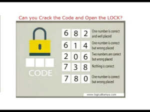 Crack the Code and Open the Lock | This will Eat your Brain - YouTube: Can you Crack the Code and Open the LOCK?  One number is correct  and well placed  6 8 2  6 1 4 One number is correct  but wrong placed  Two numbers are correct  but wrong placed  7 3 8 Nothing is orect  CODE  One number is correct  but wrong placed  www.logicalbaniya.com Crack the Code and Open the Lock | This will Eat your Brain - YouTube