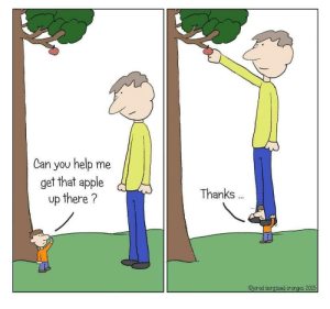 Apple, Omg, and Tumblr: Can you help me  get that apple  up there?  Thanks  Ojerad berglbad oranges 2015 omg-images:  [OC] a little help