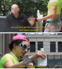 When you're moody and antisocial but your friends still fuck with u: can you just get the fuck away fro  and leave me alone?  cheers iul drink to that  bro  duitswim.c  adult swim com When you're moody and antisocial but your friends still fuck with u